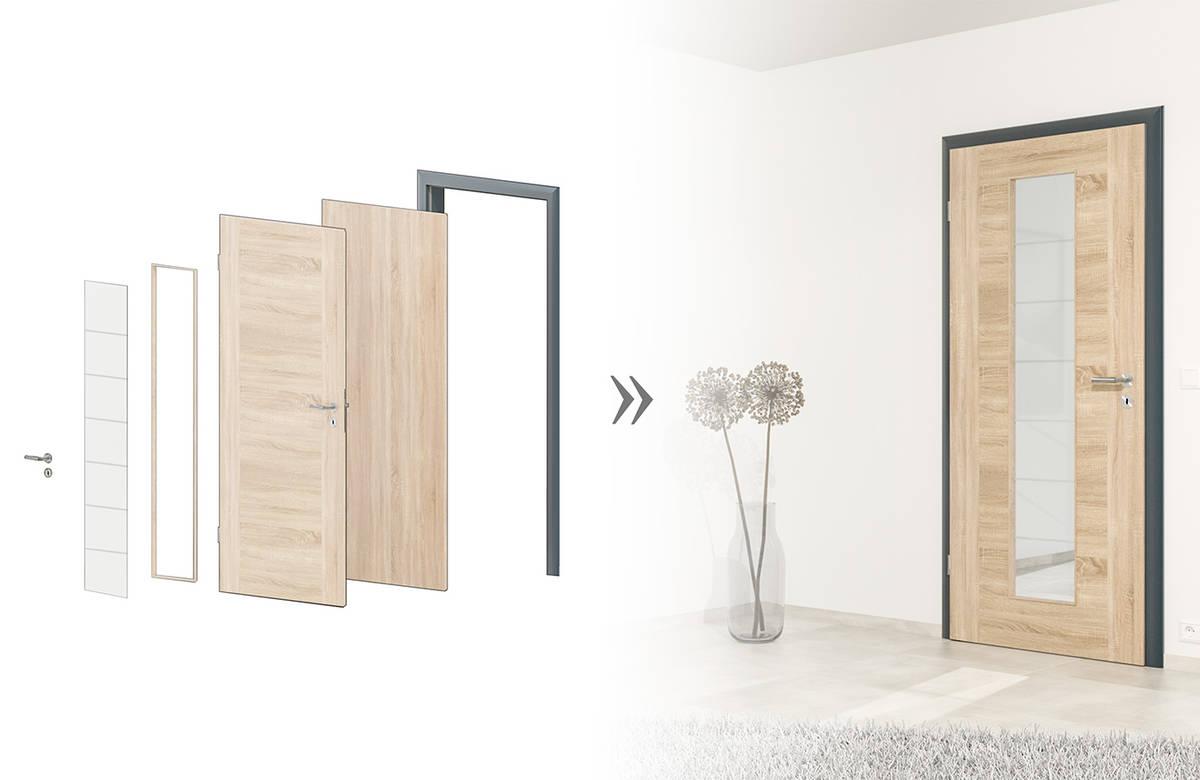 k hnlein t ren home. Black Bedroom Furniture Sets. Home Design Ideas