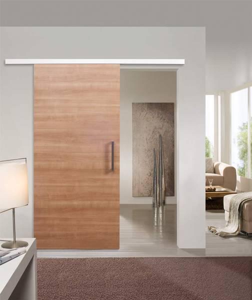 standardt r glatt ausf hrung schiebet r auf der wand laufend cpl quer kirschbaum trend. Black Bedroom Furniture Sets. Home Design Ideas